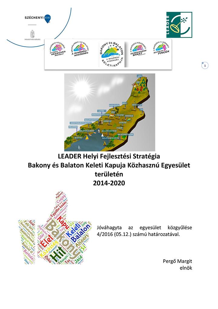 Helyi Fejlesztési Stratégia 1.0 (hatályos 2016. 05.12-től)